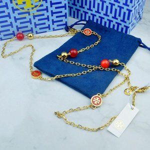 🍃Tory Burch Red Multi Pendant Necklace